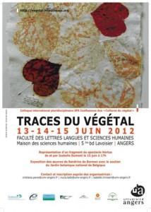 """Affiche du colloque """"Traces du végétal"""""""